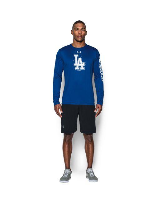 Under Armour | Blue Men's Los Angeles Dodgers Ua Techtm Long Sleeve T-shirt for Men | Lyst