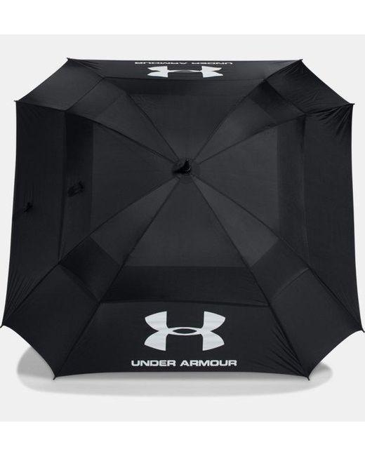 Paraguas de golf UA - Cubierta doble Under Armour de color Black