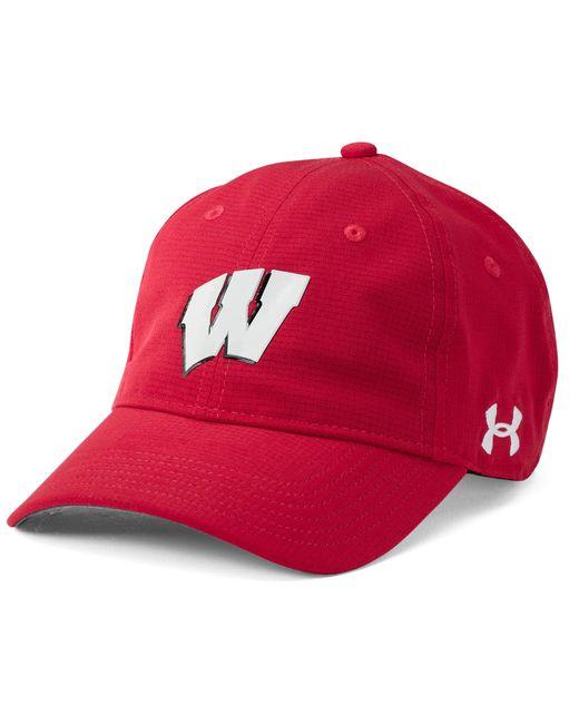Under Armour | Red Men's Wisconsin Armourventtm Cap for Men | Lyst