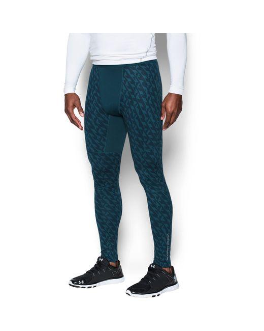 Under Armour | Black Men's Ua Coldgear® Armour Printed Compression Leggings for Men | Lyst