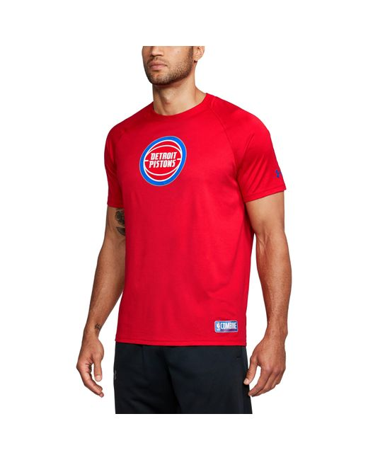 Under Armour - Red Men's Nba Combine Ua Techtm Logo T-shirt for Men - Lyst