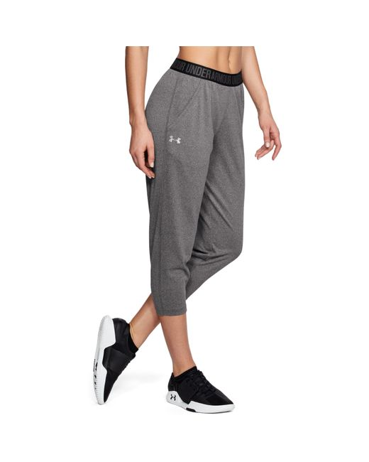 Under Armour - Gray Women's Ua Play Up Capris - Lyst