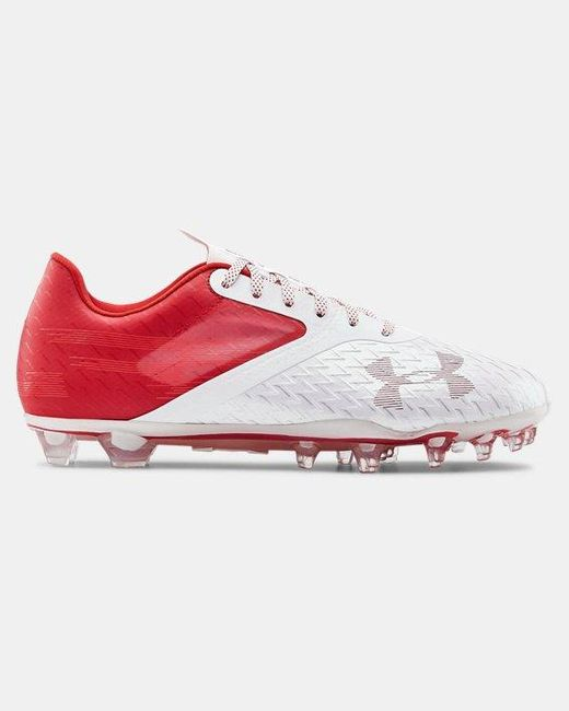 Under Armour Red Men's Ua Blur Lux Mc Football Cleats for men