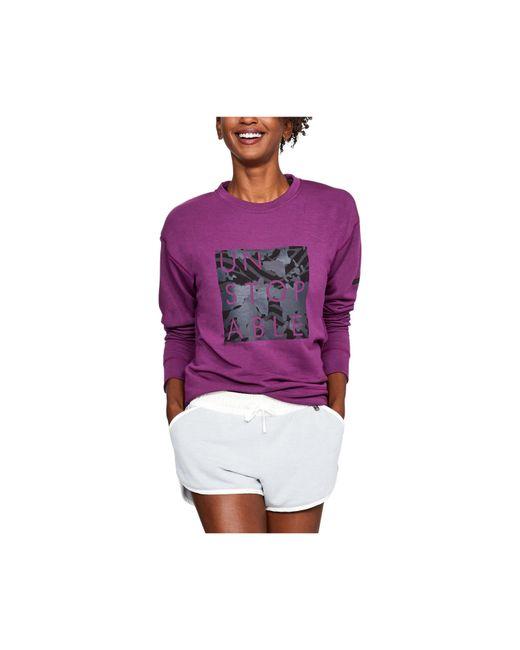Under Armour - Purple Women's Ua Unstoppable Knit Crew - Lyst