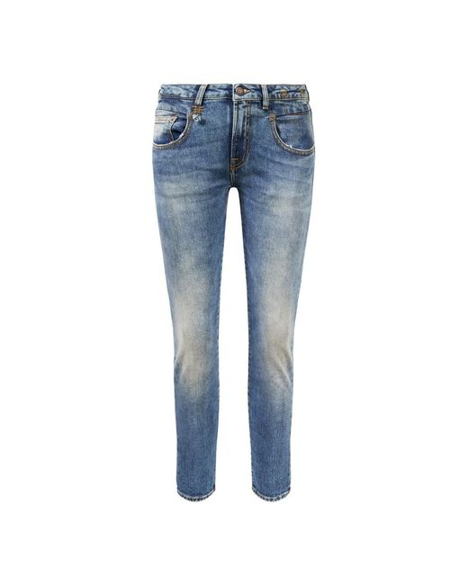 R13 Blue Jeans 'Boy Skinny' Blau
