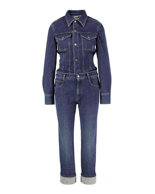 Stella McCartney Blue Jumpsuit 'Vintage Wash' Blau