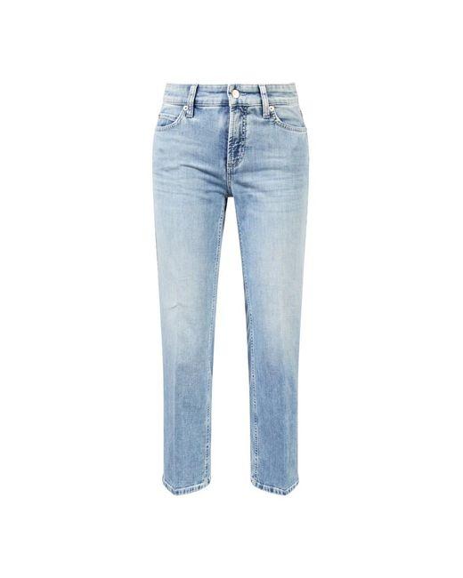 Cambio Blue Straight Leg Jeans 'Paris Straight Short' Hellblau