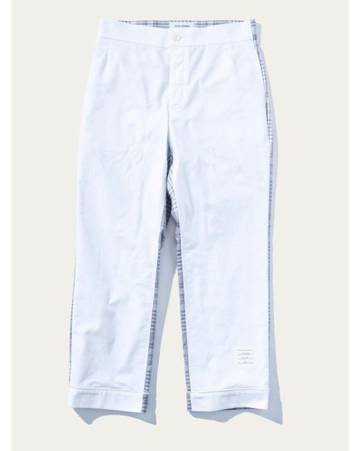Thom Browne - White Bicolor Pajama Shirt W/piping In Oxford for Men - Lyst