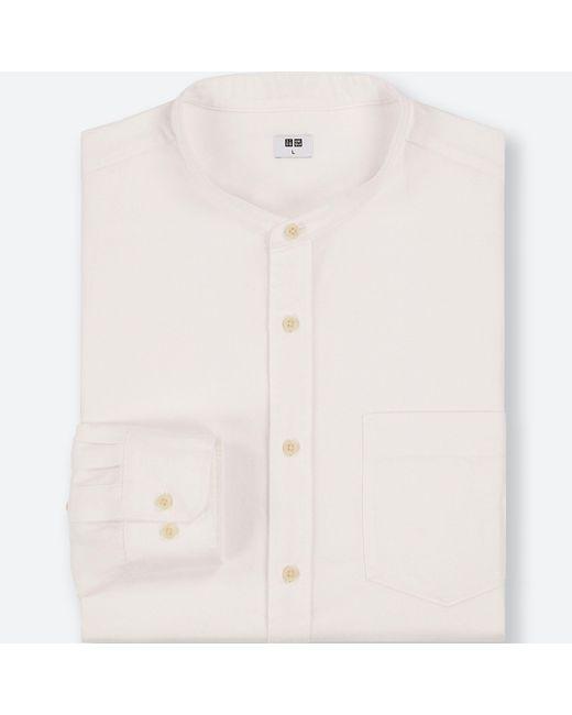 Uniqlo - White Men Flannel Long-sleeve Shirt for Men - Lyst