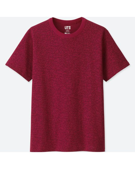 Uniqlo - Red Men Katagami Short-sleeve Graphic T-shirt for Men - Lyst