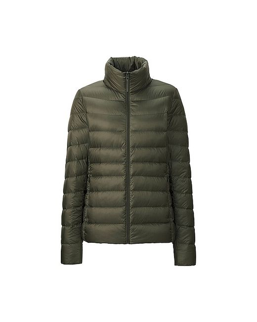 uniqlo ultra light down jacket in green olive lyst. Black Bedroom Furniture Sets. Home Design Ideas