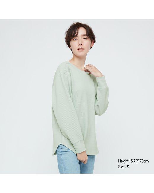 Camiseta Textura Cuello Redondo Uniqlo de color Green