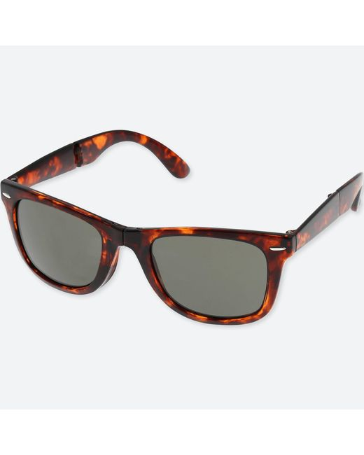 Uniqlo | Brown Wellington Folding Sunglasses for Men | Lyst