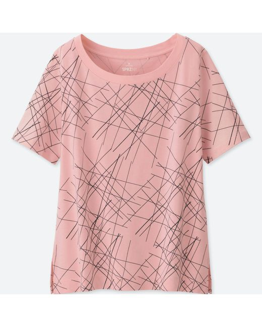 Uniqlo - Pink Women Sprz Ny Short-sleeve Graphic T-shirt (niko Luoma) - Lyst