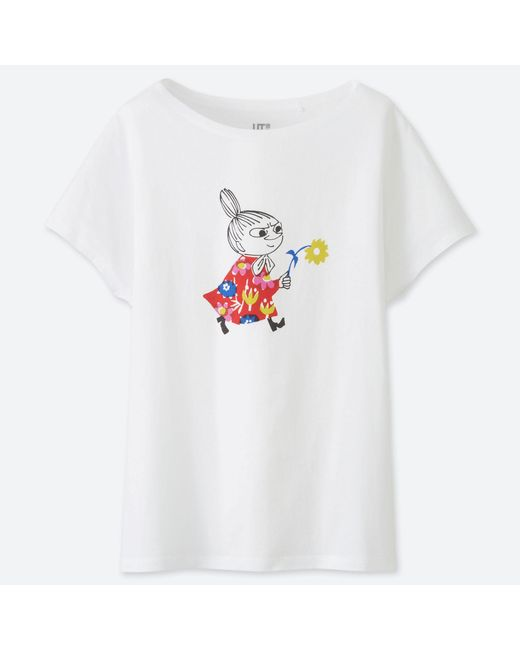 f3cec7007 Uniqlo Moomin Short Sleeved Graphic Print T-shirt in White - Lyst