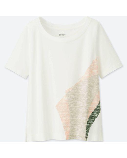 Uniqlo - White Women Sprz Ny Short-sleeve Graphic T-shirt (niko Luoma) - Lyst