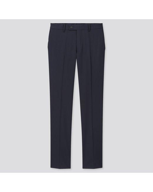 Pantalón Lana Elàstico Traje Uniqlo de hombre de color Blue