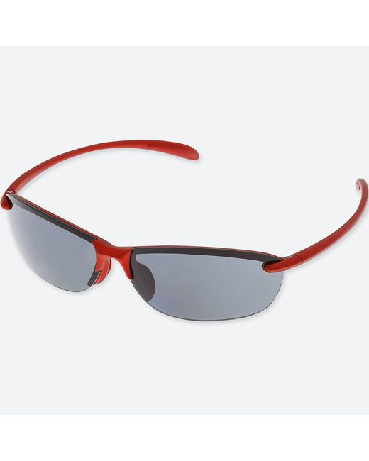 Uniqlo | Red Lightweight Half Rim Sunglasses for Men | Lyst