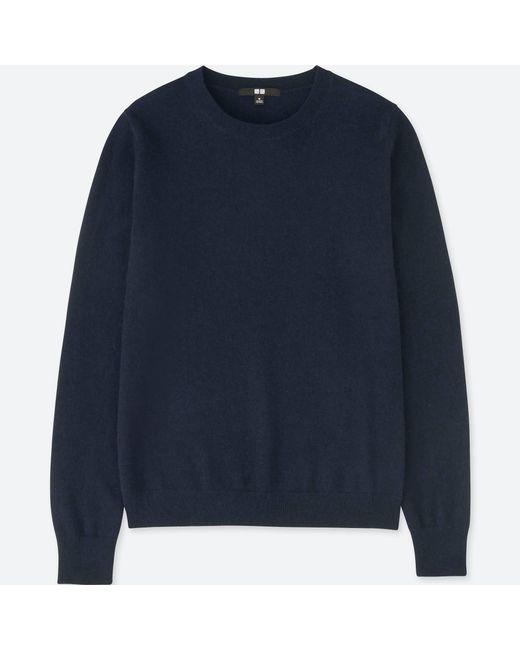 Uniqlo - Blue Women Cashmere Crew Neck Sweater - Lyst