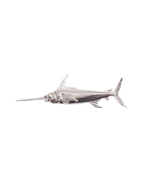 OAMC | Metallic Silver Swordfish Brooch | Lyst