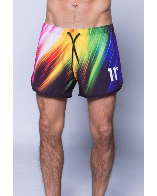 11 Degrees | Multicolor Printed Retro Swimshort for Men | Lyst