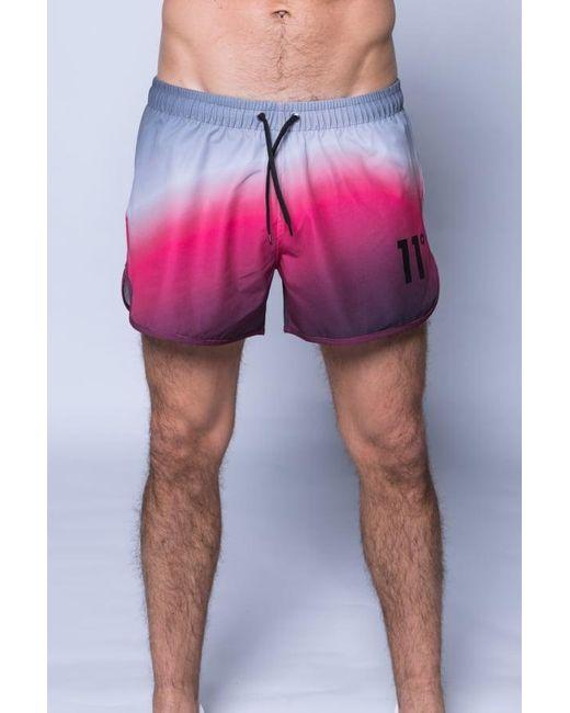 11 Degrees | Pink Printed Retro Swimshort for Men | Lyst