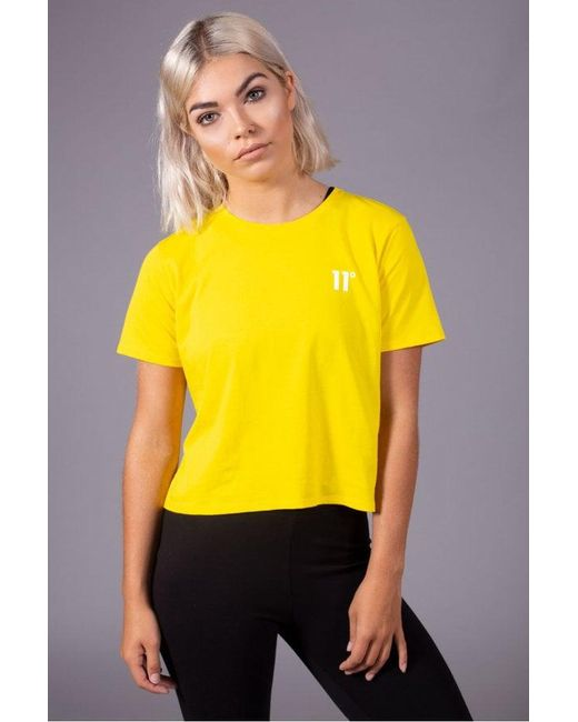 11 Degrees - Yellow Women's Core Cropped T-shirt Cyber - Lyst
