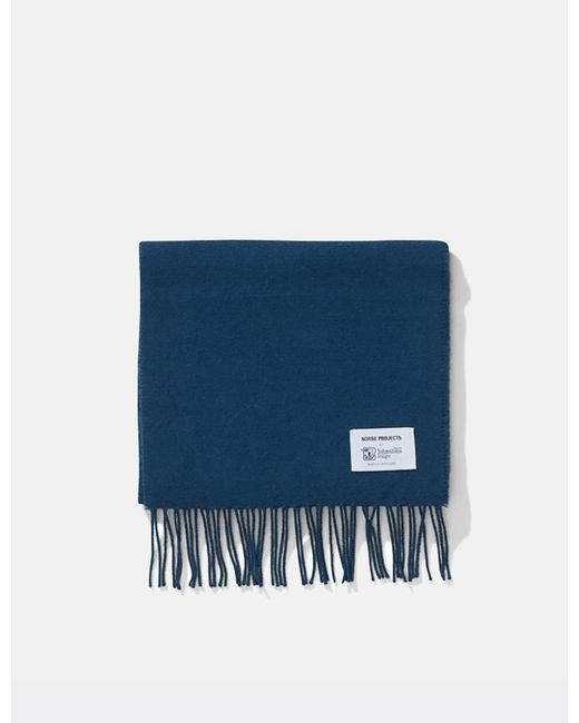 Norse Projects - Blue X Johnstons Lambswool Scarf for Men - Lyst