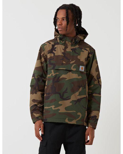 Carhartt Green Wip Nimbus Half-zip Jacket (fleece Lined) for men