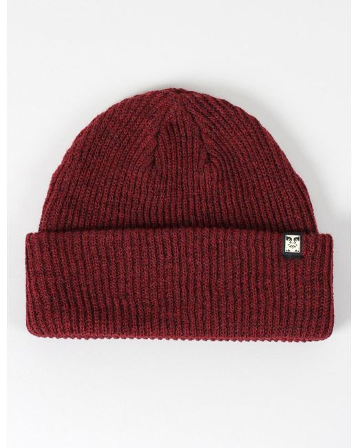 Obey   Red Ruger Beanie Hat for Men   Lyst