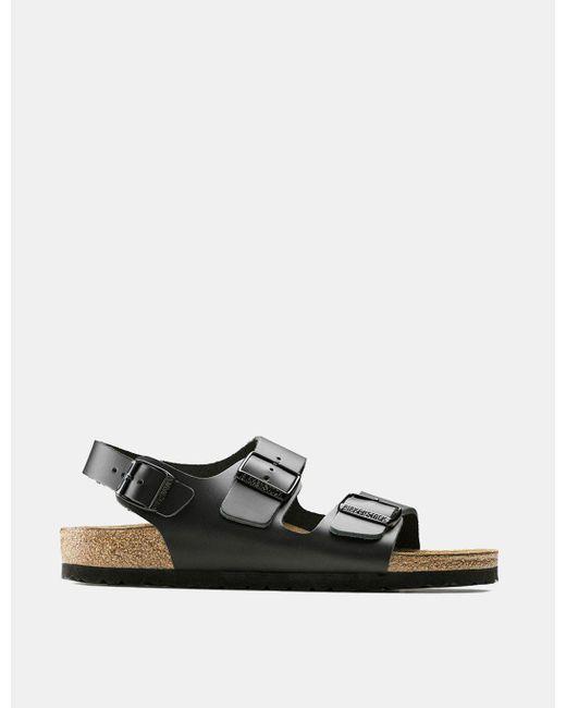 Birkenstock - Black Milano Sandals (regular) for Men - Lyst