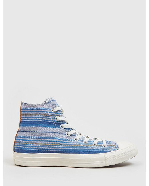 Converse | Blue Chuck Taylor Hi Crafted Textile | Lyst