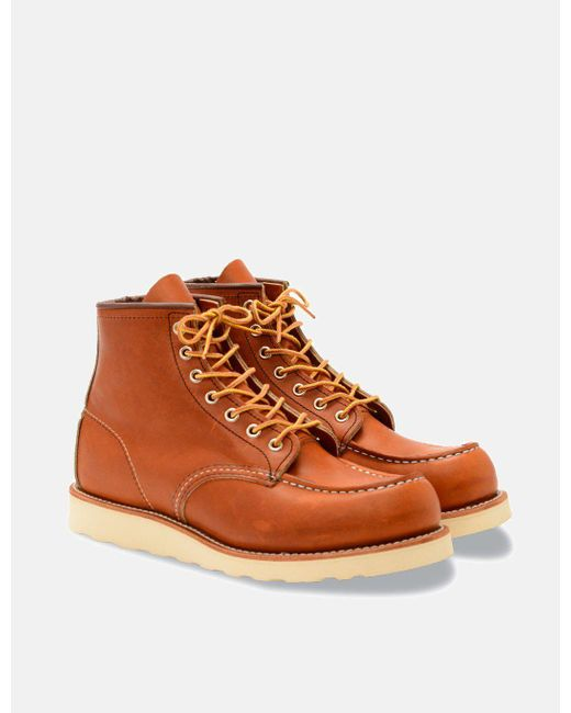 """Red Wing Brown Heritage Work 6"""" Moc Toe Boot for men"""