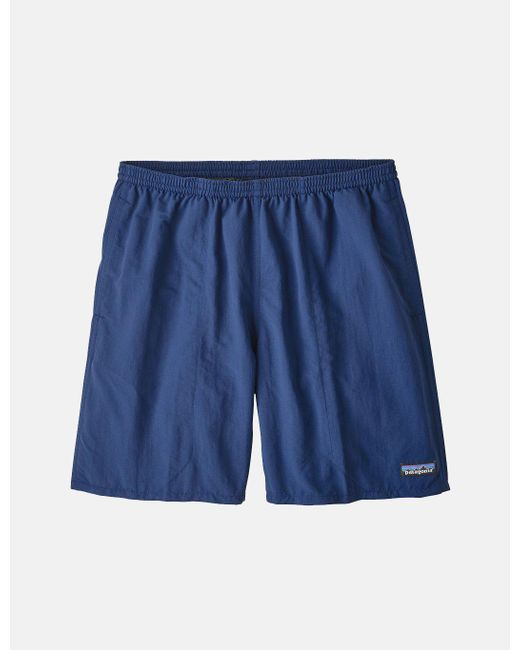 "Patagonia Blue Baggies Longs Shorts (7"") for men"