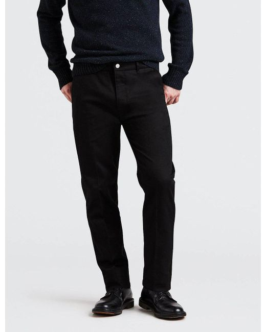 Levi's - Black 502 Sta-prest Chinos for Men - Lyst