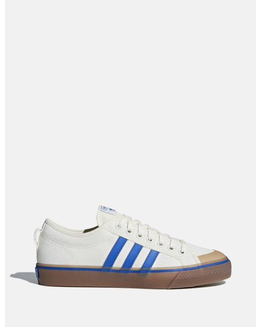 Adidas Originals - White Adidas Nizza Canvas Trainers (da9331) for Men - Lyst