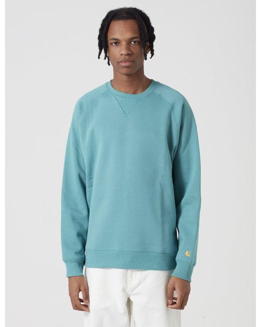 more photos performance sportswear best shoes Carhartt Cotton -wip Chase Sweatshirt in Green for Men - Lyst