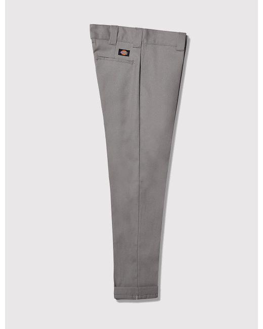 Dickies Men/'s 803 Slim Skinny Fit Cotton Chino Work Pants Gravel Grey