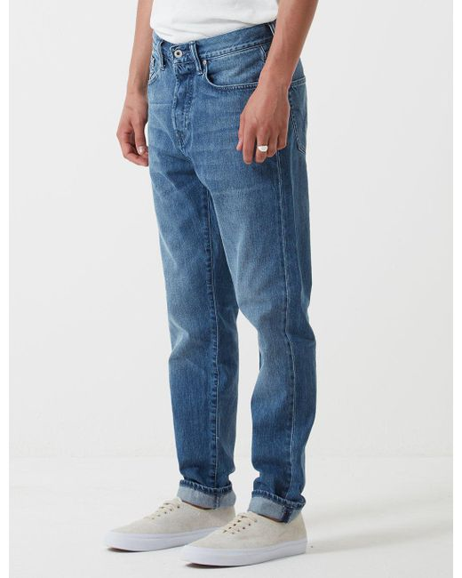 Blue Loose New Mens Edwin  ED-45 Kingston Loose Tapered Jeans