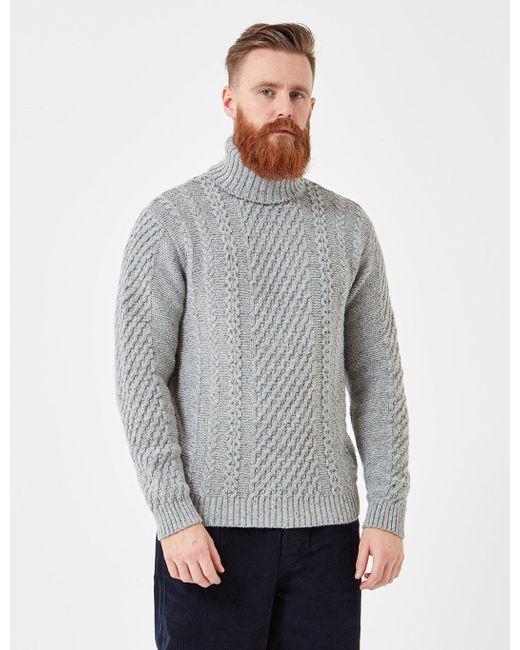 Edwin - Gray United Knit Roll Neck Jumper for Men - Lyst