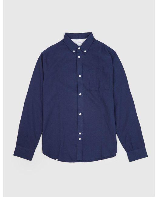 Bellfield - Blue Wester Textured Shirt for Men - Lyst
