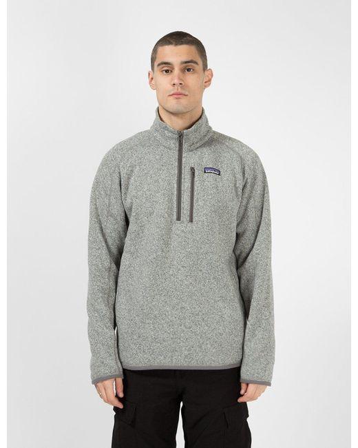 Patagonia Gray Better Sweater 1/4 Zip Fleece for men