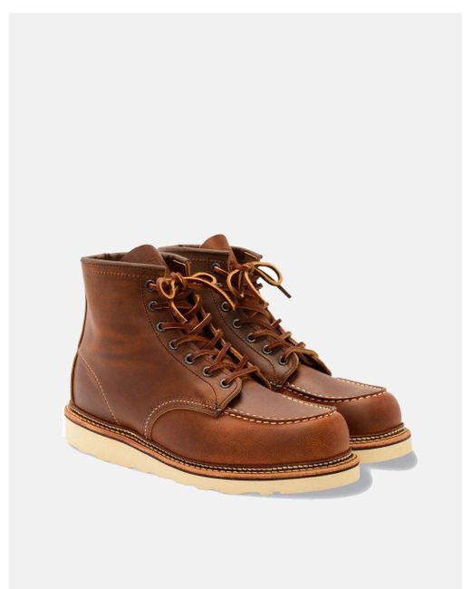 "Red Wing Brown Heritage 6"" Moc Toe Boots (1907) for men"