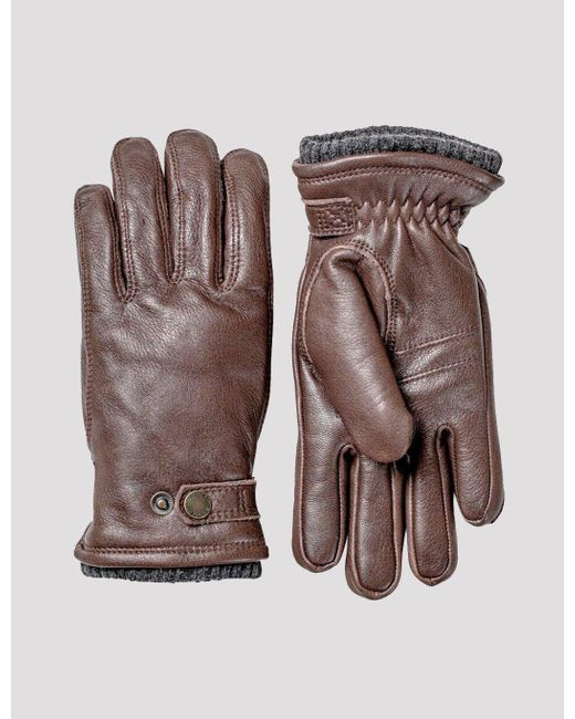 Hestra Brown Utsjö Sport Gloves (leather) for men