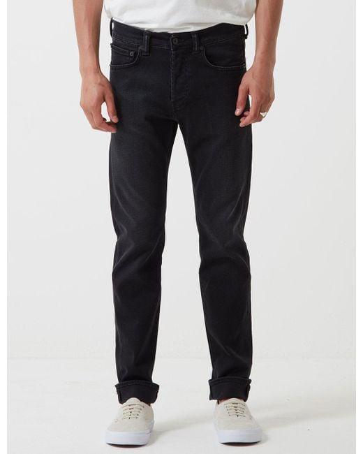 Edwin ED-80 Slim Tapered Jeans Black Mineral Wash
