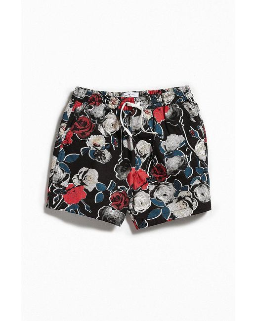 Urban Outfitters - Black Uo Maximus Printed Short for Men - Lyst