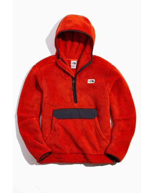 The North Face Red The North Face Campshire Sherpa Fleece Hoodie Sweatshirt for men