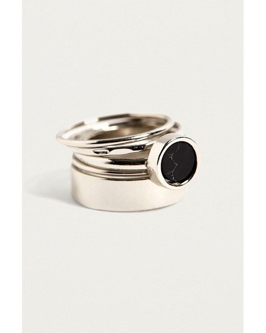 Urban Outfitters   Metallic Enamel Ring 5-pack   Lyst