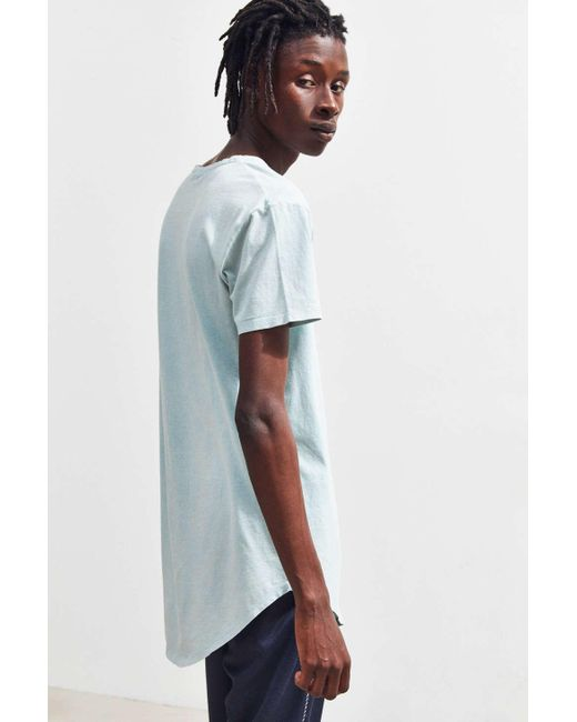 a5e28b7b8b34 ... Urban Outfitters - Blue Uo Acid Wash Scoop Neck Curved Hem Tee for Men  - Lyst ...