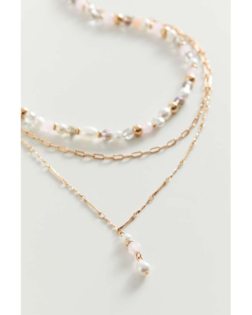 Urban Outfitters Metallic Molly Beaded Layer Necklace